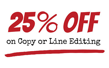 Save 25% on professional book editing