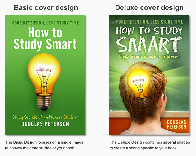 Basic cover design vs. Deluxe cover design