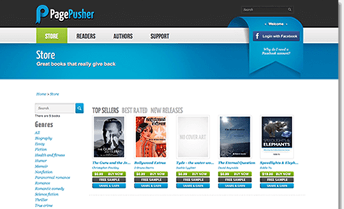 Publish on PagePusher